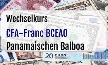 CFA-Franc BCEAO in Panamaischen Balboa