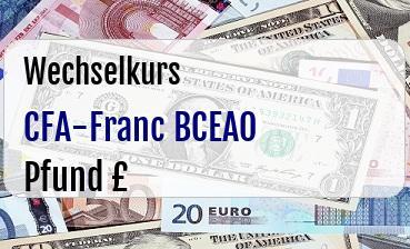 CFA-Franc BCEAO in Britische Pfund