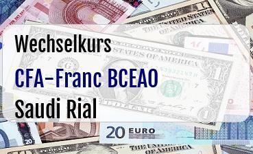 CFA-Franc BCEAO in Saudi Rial
