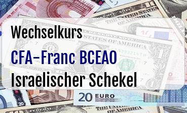 CFA-Franc BCEAO in Israelischer Schekel