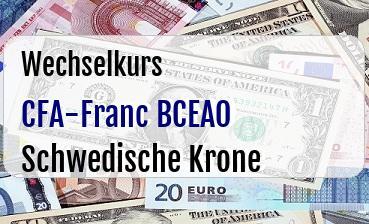 CFA-Franc BCEAO in Schwedische Krone