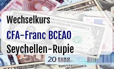 CFA-Franc BCEAO in Seychellen-Rupie