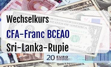 CFA-Franc BCEAO in Sri-Lanka-Rupie