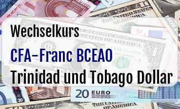 CFA-Franc BCEAO in Trinidad und Tobago Dollar