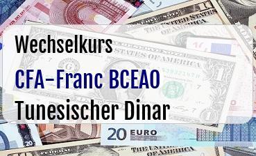CFA-Franc BCEAO in Tunesischer Dinar