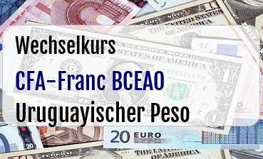 CFA-Franc BCEAO in Uruguayischer Peso