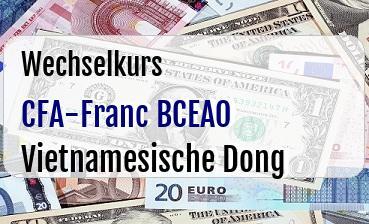 CFA-Franc BCEAO in Vietnamesische Dong