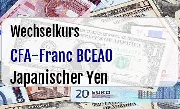 CFA-Franc BCEAO in Japanischer Yen