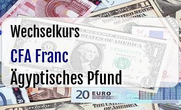 CFA Franc in Ägyptisches Pfund