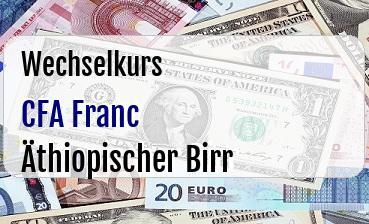 CFA Franc in Äthiopischer Birr