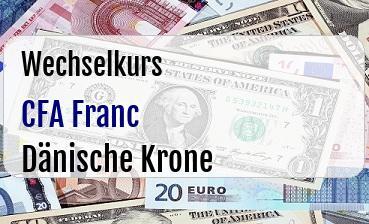CFA Franc in Dänische Krone