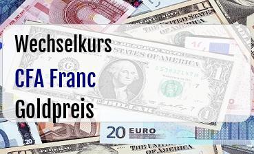 CFA Franc in Goldpreis