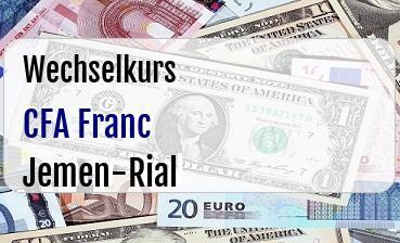 CFA Franc in Jemen-Rial