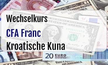 CFA Franc in Kroatische Kuna