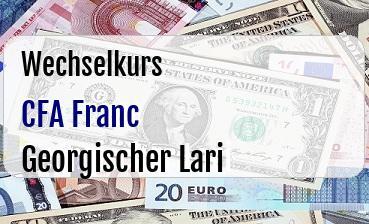 CFA Franc in Georgischer Lari