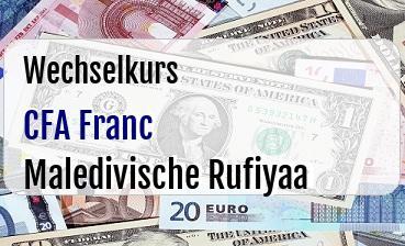 CFA Franc in Maledivische Rufiyaa