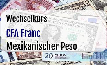 CFA Franc in Mexikanischer Peso
