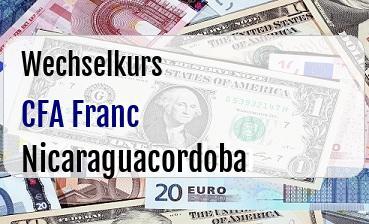CFA Franc in Nicaraguacordoba