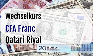 CFA Franc in Qatari Riyal