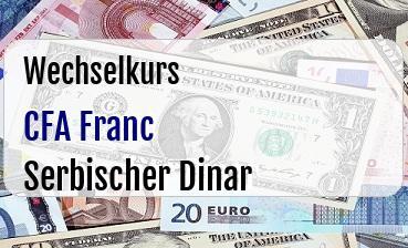 CFA Franc in Serbischer Dinar