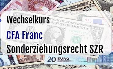 CFA Franc in Sonderziehungsrecht SZR