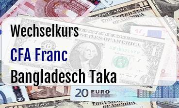 CFA Franc in Bangladesch Taka