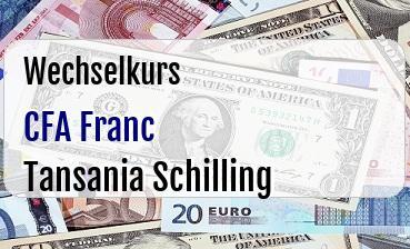 CFA Franc in Tansania Schilling