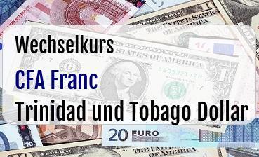 CFA Franc in Trinidad und Tobago Dollar
