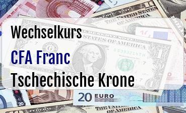 CFA Franc in Tschechische Krone