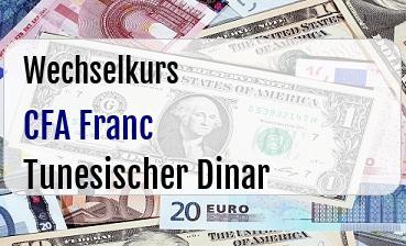 CFA Franc in Tunesischer Dinar