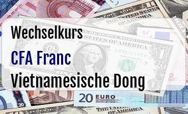 CFA Franc in Vietnamesische Dong