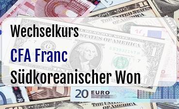 CFA Franc in Südkoreanischer Won
