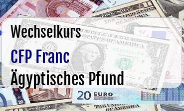 CFP Franc in Ägyptisches Pfund