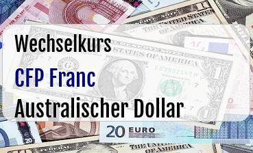 CFP Franc in Australischer Dollar