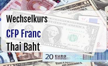 CFP Franc in Thai Baht