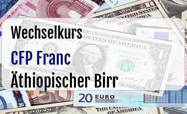CFP Franc in Äthiopischer Birr