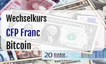 CFP Franc in Bitcoin