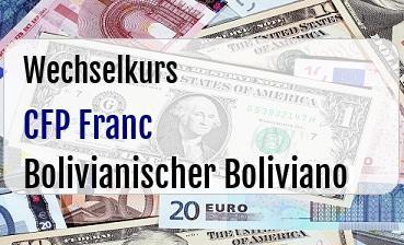 CFP Franc in Bolivianischer Boliviano