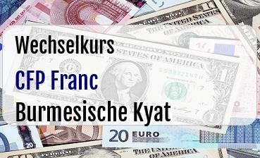CFP Franc in Burmesische Kyat