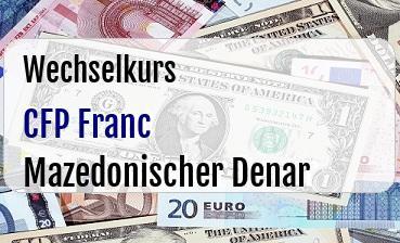 CFP Franc in Mazedonischer Denar