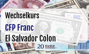 CFP Franc in El Salvador Colon