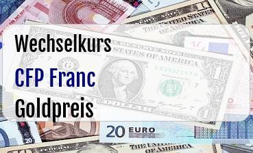 CFP Franc in Goldpreis