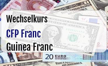 CFP Franc in Guinea Franc