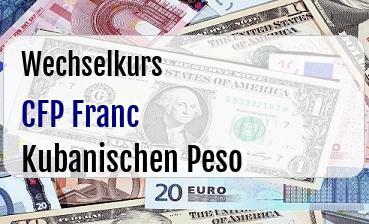 CFP Franc in Kubanischen Peso