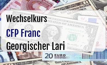 CFP Franc in Georgischer Lari