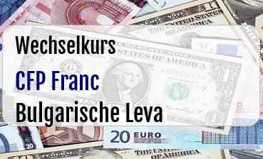 CFP Franc in Bulgarische Leva