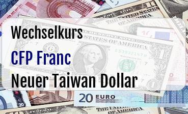 CFP Franc in Neuer Taiwan Dollar