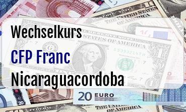 CFP Franc in Nicaraguacordoba