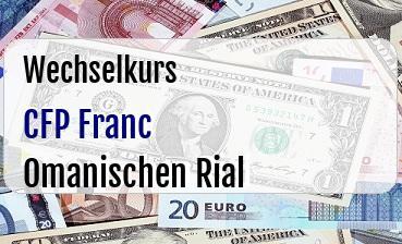 CFP Franc in Omanischen Rial