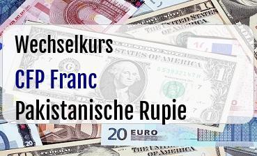 CFP Franc in Pakistanische Rupie